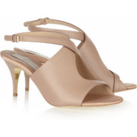 Stella McCartney  - Faux leather peep-toe sandals
