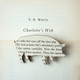 House of Ismay - Image of E B White - 'Charlotte's Web' original book page brooch