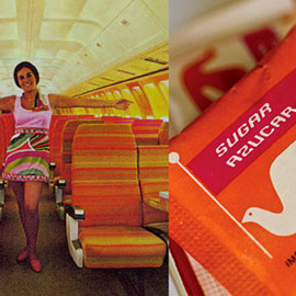 "BRANIFF INTERNATIONAL - ""Sugar Packet"" Designed by Alexander-Girard"