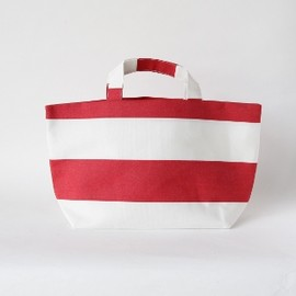 "SyuRo - ""Kota"" - Border Tote Bag (Red)"
