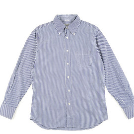 INDIVIDUALIZED SHIRTS - BD Shirts Standard Fit Bengal Stripe-Navy