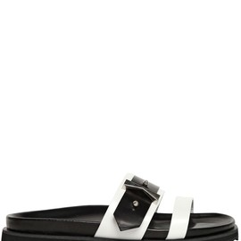Alexander McQueen - SS2015 20MM TWO TONE LEATHER SLIDE SANDALS
