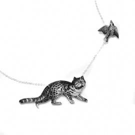 Tilly Bloom - Cat and Bird Necklace