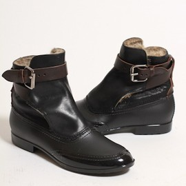 Vivienne Westwood - Faux Fur Lined Pirate Strap Boots in Black
