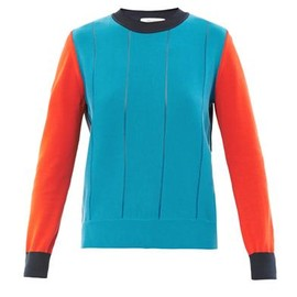 Cédric Charlier - Contrast-panel cotton-knit sweater