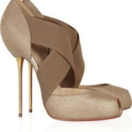Christian Louboutin - Christian Louboutin textured leather pumps