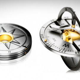 Meister - Gold and Titanium Compass Amulet Pendants