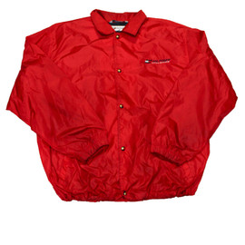TOMMY HILFIGER - Vintage 90s Red Tommy Hilfiger Windbreaker Jacket Mens Size XXL