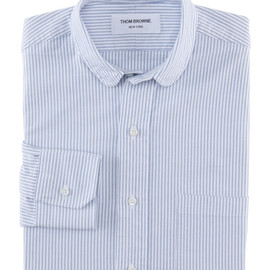 THOM BROWNE - Small Round Collar Shirt