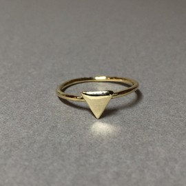raza - Triangle motif ring
