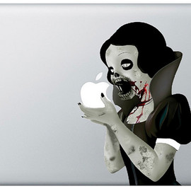 Zombie Snow White Decal:ゾンビ白雪姫デカール(MacBook,iPhone,iPad)