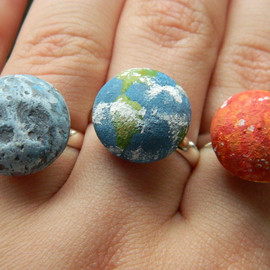 KIKIYOW - 3D Planet RIngs - Sun, Moon, Earth