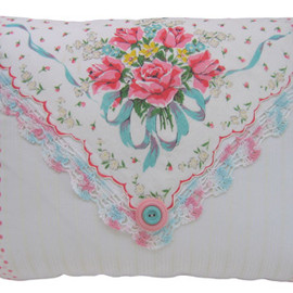 Antique - Vintage Handkerchief Pillow