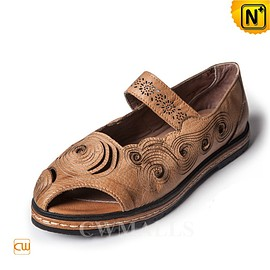 cwmalls - CWMALLS Leather Mary Jane Sandals CW306225