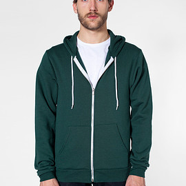 American Apparel - Flex Fleece Zip Hoody Forest