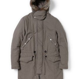 nonnative - BOMBER PUFF COAT - C/W TWILL WITH WINDSTOPPER® 2L