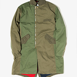 nonnatove - TRAVELER COAT COTTON MILITARY CLOTH for FLAPH