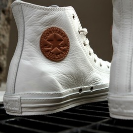 CONVERSE - white/lether