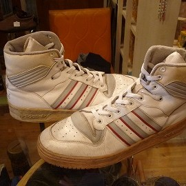 "adidas - 「<used>80's adidas RIVARLY HI white/grey/red""made in TAIWAN"" size:US11(29m) 12800yen」販売中"