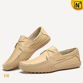 CWMALLS - Pebbled Leather Boat Shoe Driving Loafers CW740105