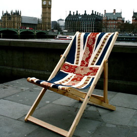 Union Jack Flag Deck Chair
