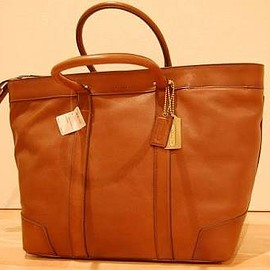 COACH - bleecker legacy leather weekend tote