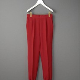 BEAUTY&YOUTH UNITED ARROWS - BACK SATIN RIB JERSY PANTS