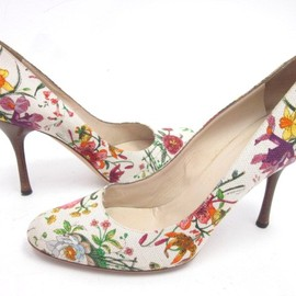 GUCCI - Multicolor Floral Print Pumps