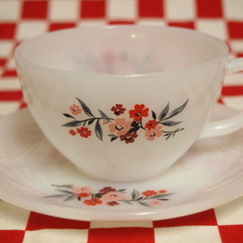 Fire King - Primrose Cup & Saucer #50