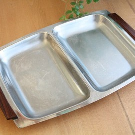 Danish vintage stainless tray