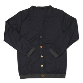 FRANK LEDER - Blue Wool Cardigan