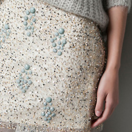 zara - libertyrose:Diamante Embellished Skirt