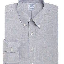 Brooks Brothers - Classic All-Cotton Extra-Slim Fit Supima® Oxford Dress Shirt (BLUE)