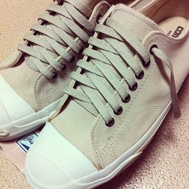 CONVERSE - jack purcell / cream suede / made in usa
