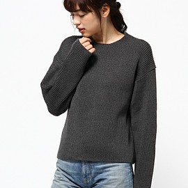 AURALEE - SUPER FINE WOOL RIB KNIT BIG P/O