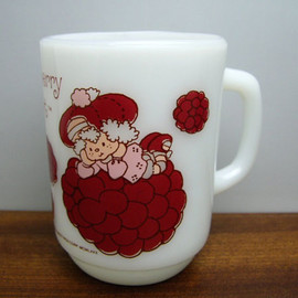Fire King - Strawberry Shortcake Raspberry Tart mug cup