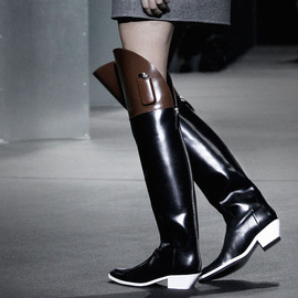 Alexander Wang - Alexander Wang Two-tone Riding Boots
