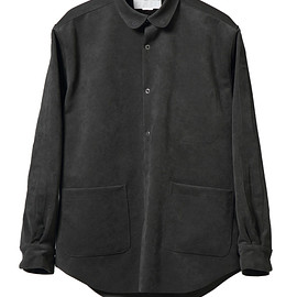NADA. - Oversized fake suede shirts / Charcoal