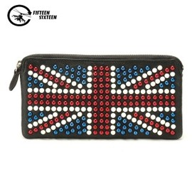 hallomall - British Flag Pearl Zip Up Purses for Women