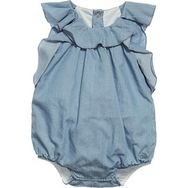 Chloé - Baby Girls Pale Blue Cotton Chambray Shortie