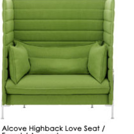 Alcove Highback Love Seat  - Forest