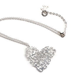 Statement Numerology Heart Necklace