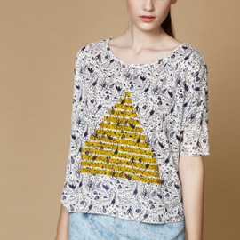 migh-T - Alien Print T With Pyramid