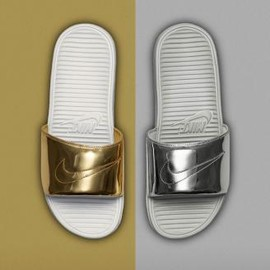 Nike - NIKE BENASSI SOLARSOFT SLIDE LIQUID METAL PACK
