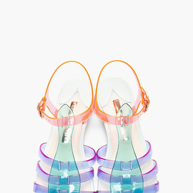 SOPHIA WEBSTER - Purple & Green Colorblocked Violeta Sandals