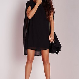 Missguided - Cape Overlay Swing Back Dress