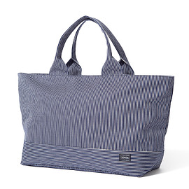 "HEAD PORTER - ""KNOTT'S"" TOTE BAG (XL) INDIGO"