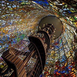 神奈川県 - Stained Glass Staircase, Kanagawa, Japan