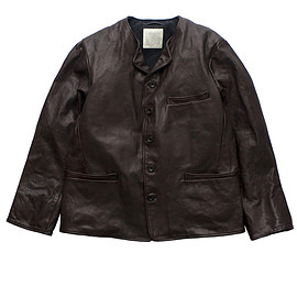 OLD JOE & Co - DISTRESSED HORSE LEATHER BUTTON JACKET