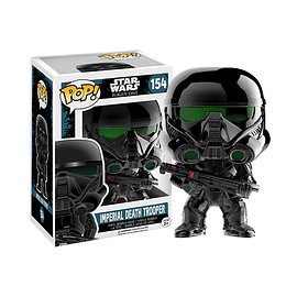 FUNKO - POP! - Star Wars / Rogue One: A Star Wars Story - Imperial Death Trooper  (Black Plated Version)